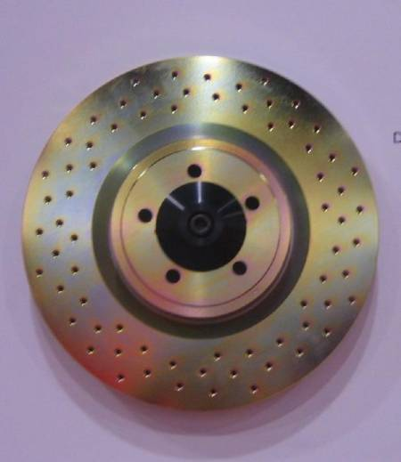 Cross drilled brake rotor