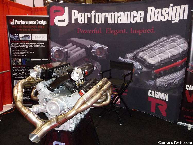 Performance Design Carbon fiber intake for an LS series motor